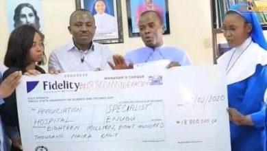 "Photo of ""OZOIGBONDU"" FR MBAKA CLEARS INDIGENT PATIENTS HOSPITAL BILLS WORTH OVER  N18M"
